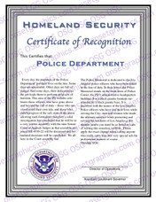 Homeland Security Recognition Award