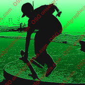 SKATE STICKER GREEN