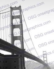 San Francisco Bridge in Fog B&W