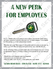 Employee Perk Flyer