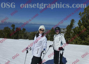 2 Females Skiing Tahoe
