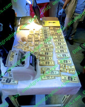 Cash Money and Counter on Table