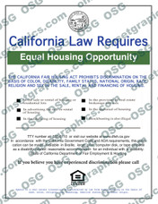 Equal Housing Opportunity CA