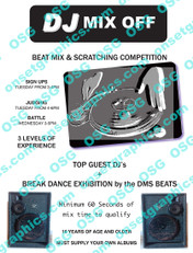 80s DJ Mix Competition Flyer