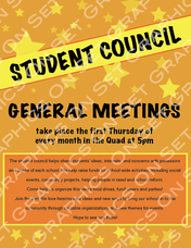 Student Council Flyer