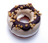 Chocolate Hazelnut Frozen Donut with Vanilla Center