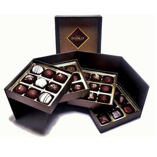 Large Brown Signature Chocolate Gift Box holding 36 assorted chocolates including Jewels and  Truffles