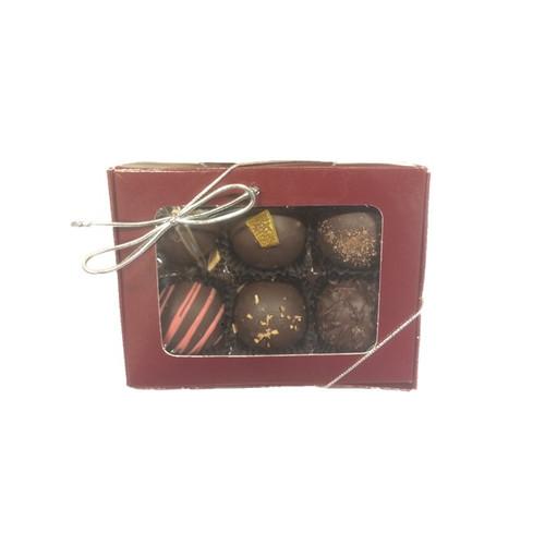 Truffle Window Gift Box containing 6 Truffles