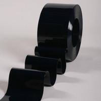 """8"""" Opaque Black PVC Strip Curtain Bulk Roll"""