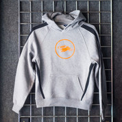 Youth Hooded Sled Sweatshirt - GREY
