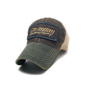 Brownish/Green Distressed Adjustable Hat