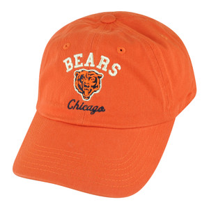NFL Chicago Bears Freeman Garment Wash Slouch Buckle Adjustable Orange Hat Cap