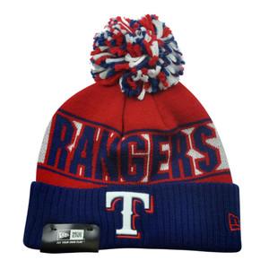 MLB New Era Texas Rangers Rep Your Team Cuffed Pom Beanie Winter Knit Hat Toque