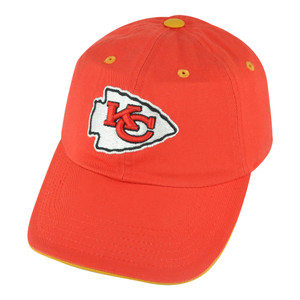 NFL Kansas City Chiefs Open Act Women Ladies Garment Wash Red Buckle Hat Cap