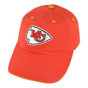 NFL Kansas City Chiefs Open Act Women Ladies Garment Wash Red Buckle Hat Cap