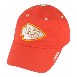 NFL Kansas City Chiefs Ice Garment Wash Slouch Clip Buckle Adjustable Hat Cap