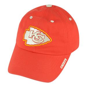 NFL Kansas City Chiefs Ice Garment Wash Slouch Clip Buckle Adjustable Hat Cap