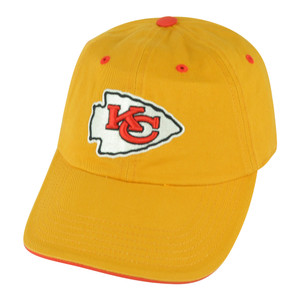 NFL Kansas City Chiefs Open Act Women Ladies Garment Wash Yellow Buckle Hat Cap