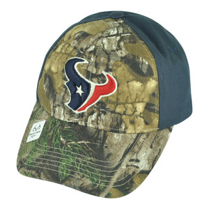 NFL Houston Texans Base Camp Realtree Camouflage Camo Hunting Velcro Hat Cap