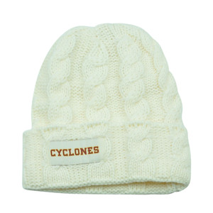 NCAA Iowa State Cyclones Keira Women Cuffed Crochet Beanie Knit Ladies Winter