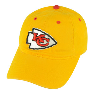 NFL Kansas City Chiefs Castel Women Ladies Garment Wash Buckle Yellow Hat Cap