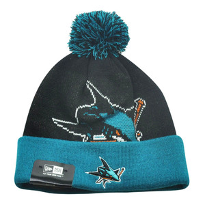 NHL New Era San Jose Sharks Woven Biggie 2 Cuffed Beanie Winter Warm Knit Hat