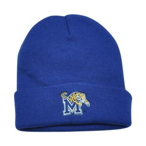 NCAA Memphis Tigers Gilbert Cuffed Knit Toque Beanie Blue Winter Fan Favorite