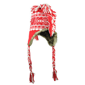 NCAA Wisconsin Badgers Ashton Mohawk Tassel '47 Brand Knit Beanie Ear Flap Hat