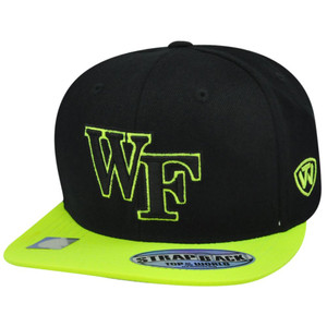 NCAA Wake Forest Demon Deacon Fluorescent Flat Bill Sun Buckle Strap Hat Cap