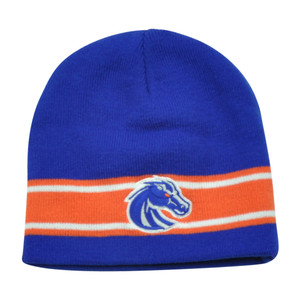 NCAA Boise State Broncos Verified Cuffless Striped Knit Beanie Toque Hat Winter