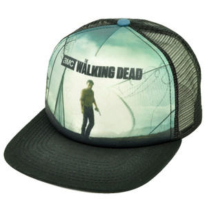 AMC The Walking Dead Foam Trucker Mesh Snapback Flat Bill Hat Cap Tv Show Walker