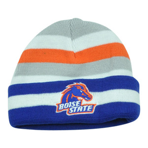 NCAA Boise State Broncos Lil Sweet B Striped Toddler Cuffed Knit Beanie Hat Boys
