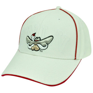 NCAA OFFICIAL NEVADA REBELS WHITE RED CAP HAT ADJ NEW