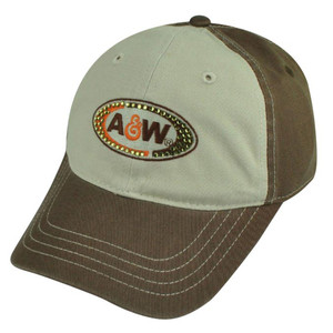 A&W Branded Root Beer Restaurant Rhinestone Women Ladies Garment Wash Hat Cap