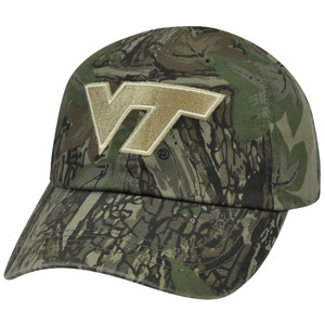 NCAA Virginia Tech Hokies Hat Cap Adjustable Garment Wash Velcro Camo Camouflage