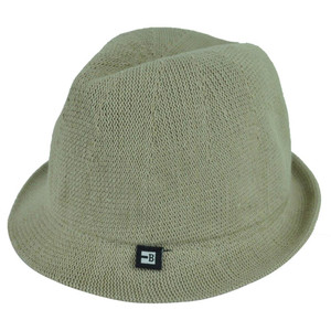 Block Headwear Dune Fedora XLarge Relax Gangster Trilby Stetson Hat Solid Khaki