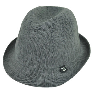 Block Headwear Dune Fedora Medium Relax Gangster Trilby Stetson Hat Solid Grey