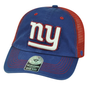 '47 Brand NFL New York Giants Flex Fit One Size Mesh Relaxed Hat Cap Taylor Blue