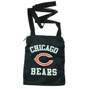 NFL Chicago Bears Messenger Jersey Mesh Bag Ladies Women Handbag Purse Blue
