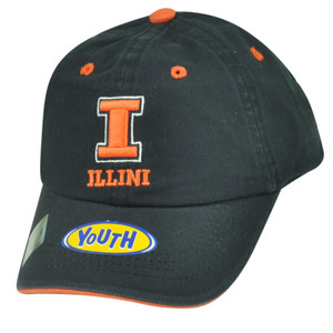 NCAA Illinois Fighting Illini Garment Wash Relaxed Hat Cap Youth Sun Buckle Navy