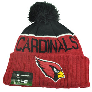 NFL New Era Arizona Cardinals Sport Knit Beanie Pom Pom Cuffed Hat Winter Toque