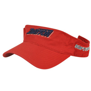 NCAA Dayton Flyers Velcro Adjustable Red Softball Sun Visor Hat Sport Game Fan
