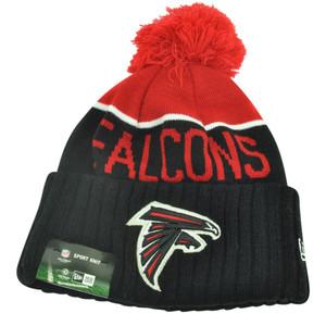 NFL New Era Atlanta Falcons Sport Knit Beanie Pom Pom Cuffed Hat Winter Toque