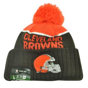 NFL New Era Cleveland Browns Sport Knit Beanie Pom Pom Cuffed Hat Winter Toque