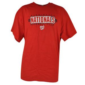 MLB Washington Nationals Tshirt Cup Mug Mens Set Red Baseball Shirt Tee Cotton
