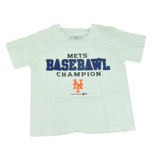 MLB New York Mets NY Baseball Champion Toddler Tshirt Tee White Boys Shirt