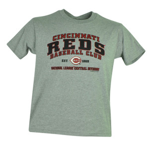 MLB Cincinnati Reds Faneca Jr Youth Cotton Tshirt Tee Grey Baseball Boy Sport