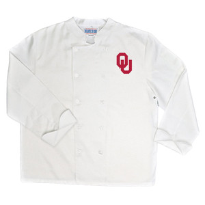 NCAA Oklahoma Sooners Classic Chef Coat Professional Style Tailgate White