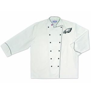 NFL Philadelphia Eagles Premium Chef Coat Professional Style Mens White