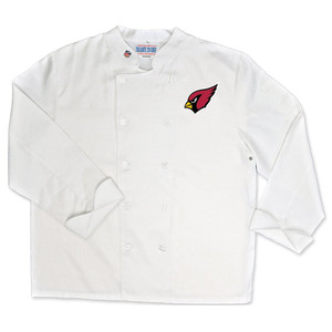 NFL Arizona Cardinals Classic Chef Coat Professional Style Tailgate White